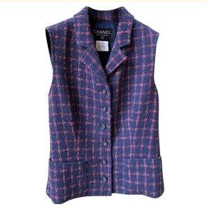 Chanel Boutique Plaid Vest